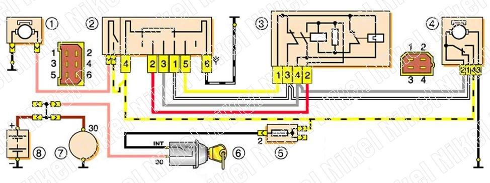 Схема щитка приборов приора